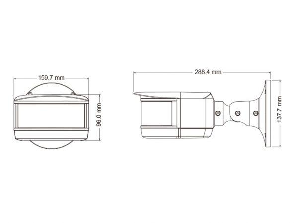 TD-6424M3-(D/PE/AR2) IP-відеокамера панорамна